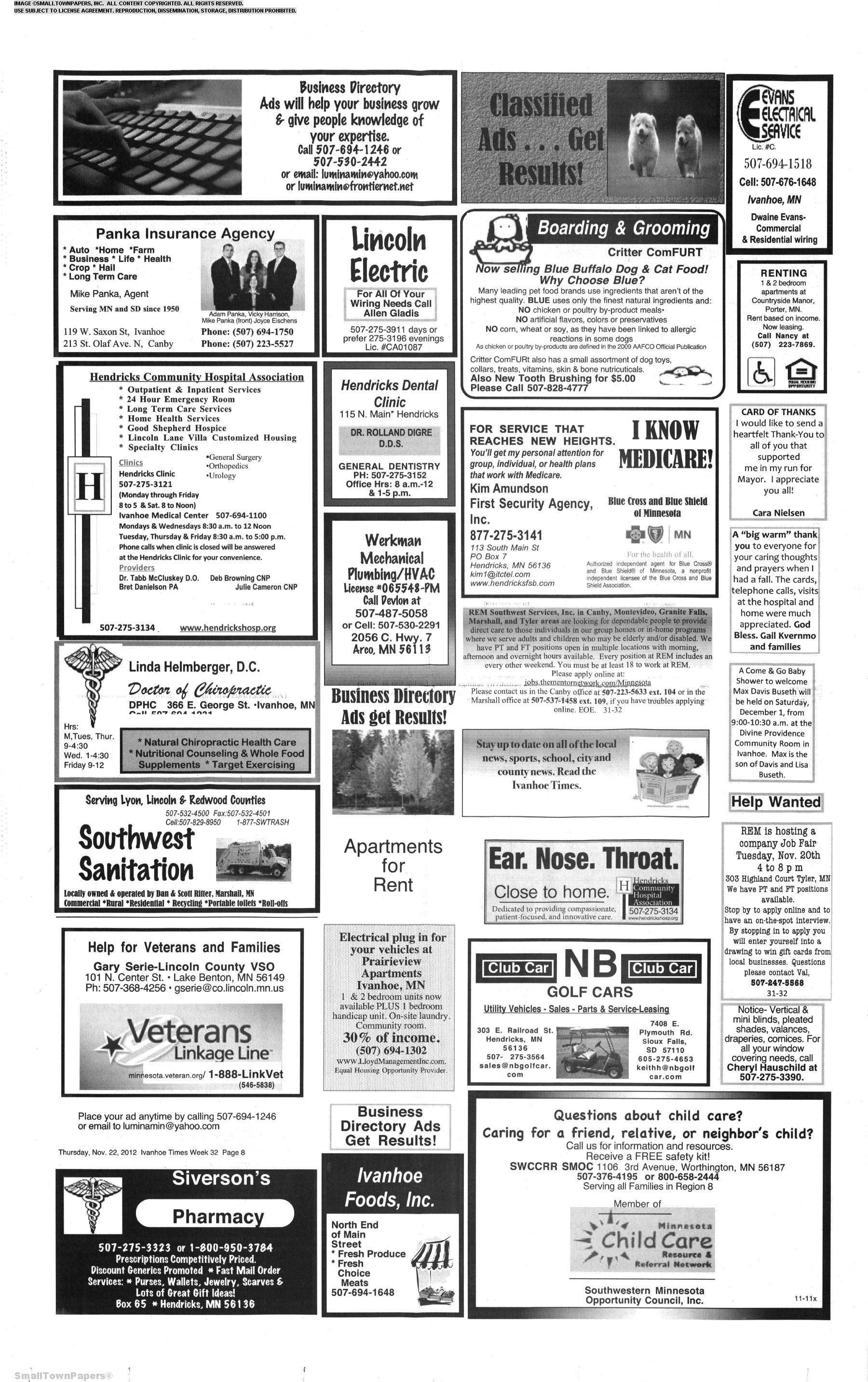 Ivanhoe Times November 22, 2012: Page 8